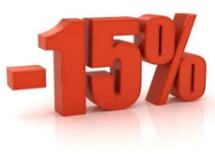 Tariffa prepagata con sconto del 15%