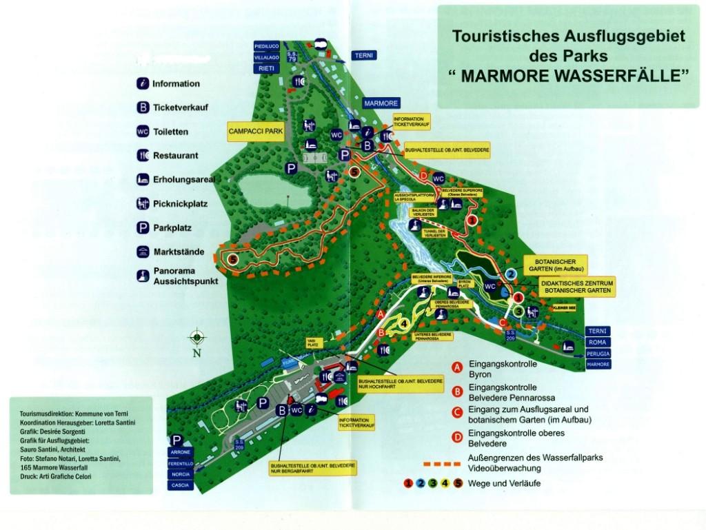 mappa cascata tedesco
